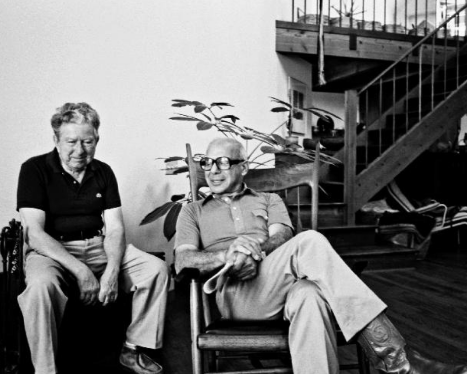 Bob Stocksdale with his friend, celebrated furniture maker Sam Maloof.