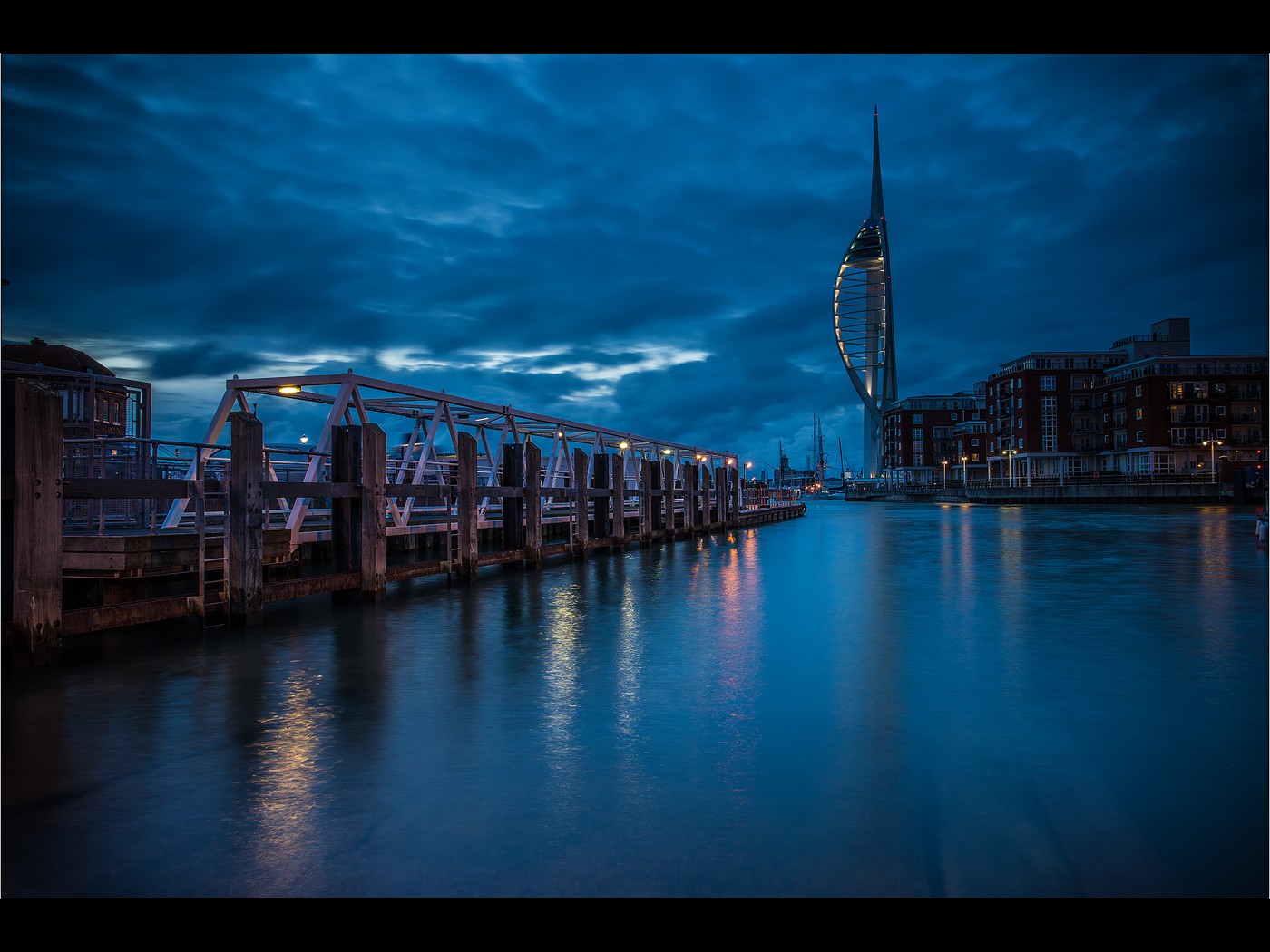 Spinnaker Tower Dusk by Colin Mill