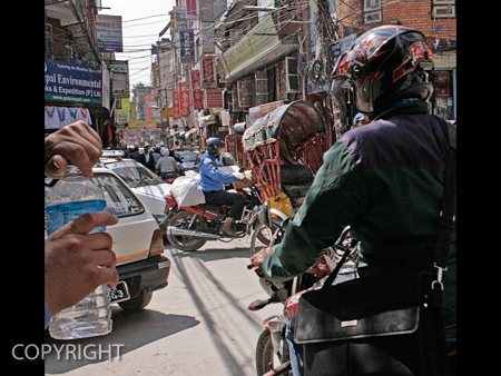 TRAFFIC IN THE THAMEL by Irene Clarke.jpg