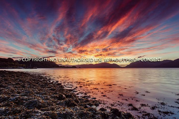 LOCH LINNHE LIGHT by Darren Ackers