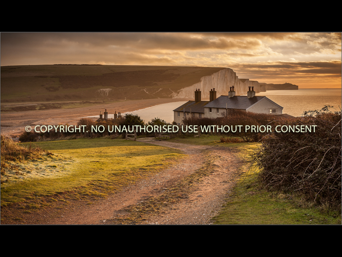 SEAFORD COASTGUARD COTTAGES by Colin Mill