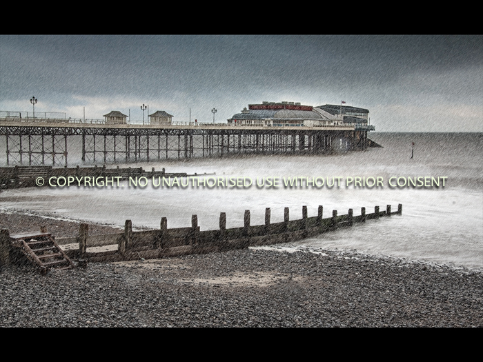 WINTER STORM, CROMER by Sue Vaines