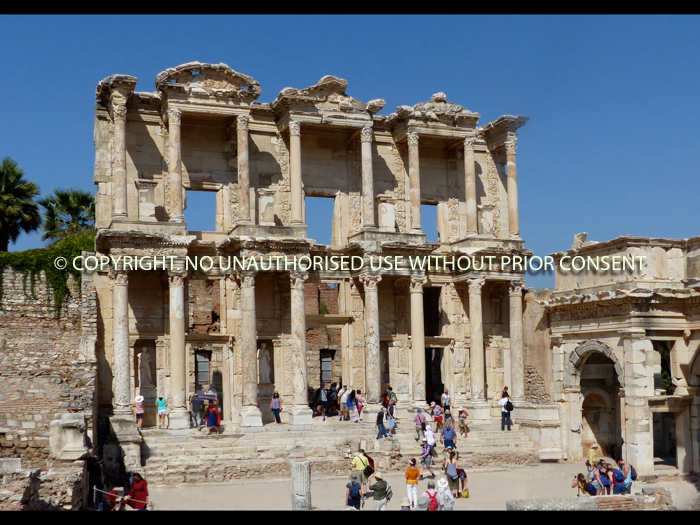 THE LIBRARY, EPHESUS 1STC AD by Irene Clarke.jpg