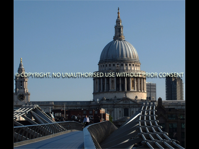 ST PAUL'S FROM MILLENIUM BRIDGE by Clive Williams.jpg