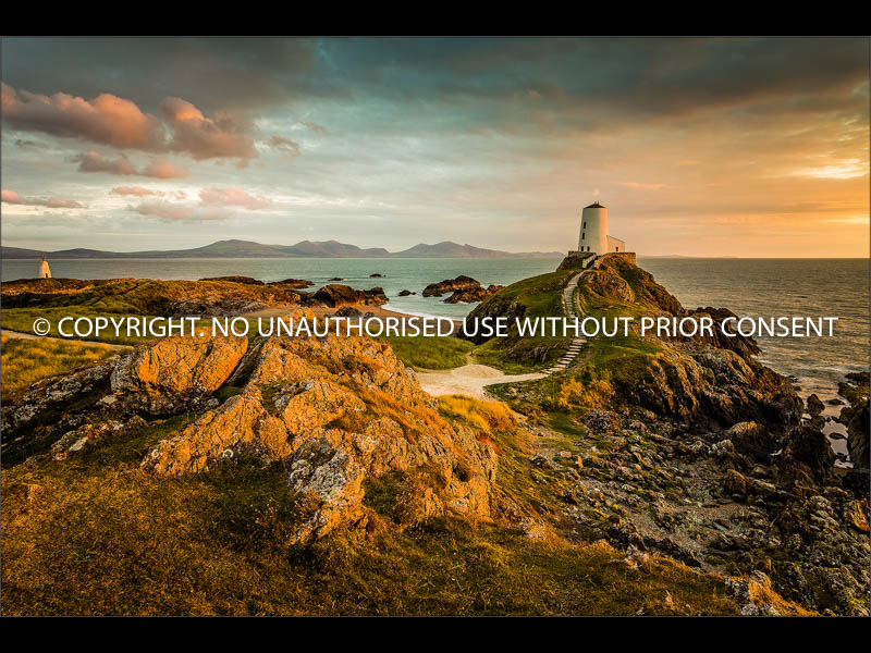 LAST LIGHT ON LLANDDWYN LIGHTHOUSE by Colin Mill.jpg
