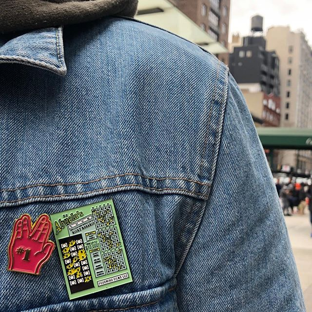 Limited edition Abuela's Luck pins on sale!! ⚡️LINK IN BIO⚡️ • • Pin designed by @mrdavidruano • • #abuelasluck #shortfilm #merch #pins #lapelpins #fashion #filmmaking #movie #merchandising #merchandise #bingitos #scratchoffs #shopping #online #bigcartel