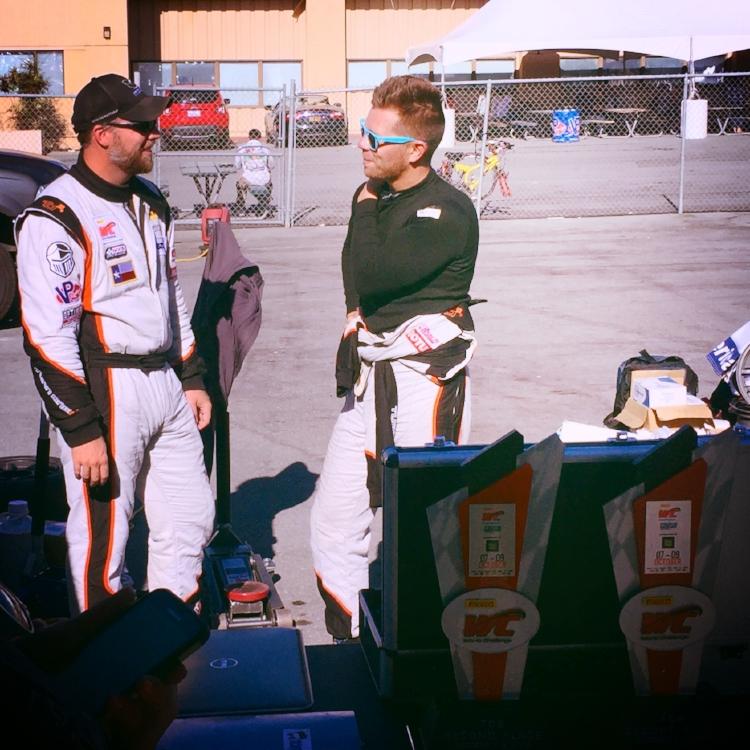 PWC drivers James Wilson (left) and Tom O'Gorman