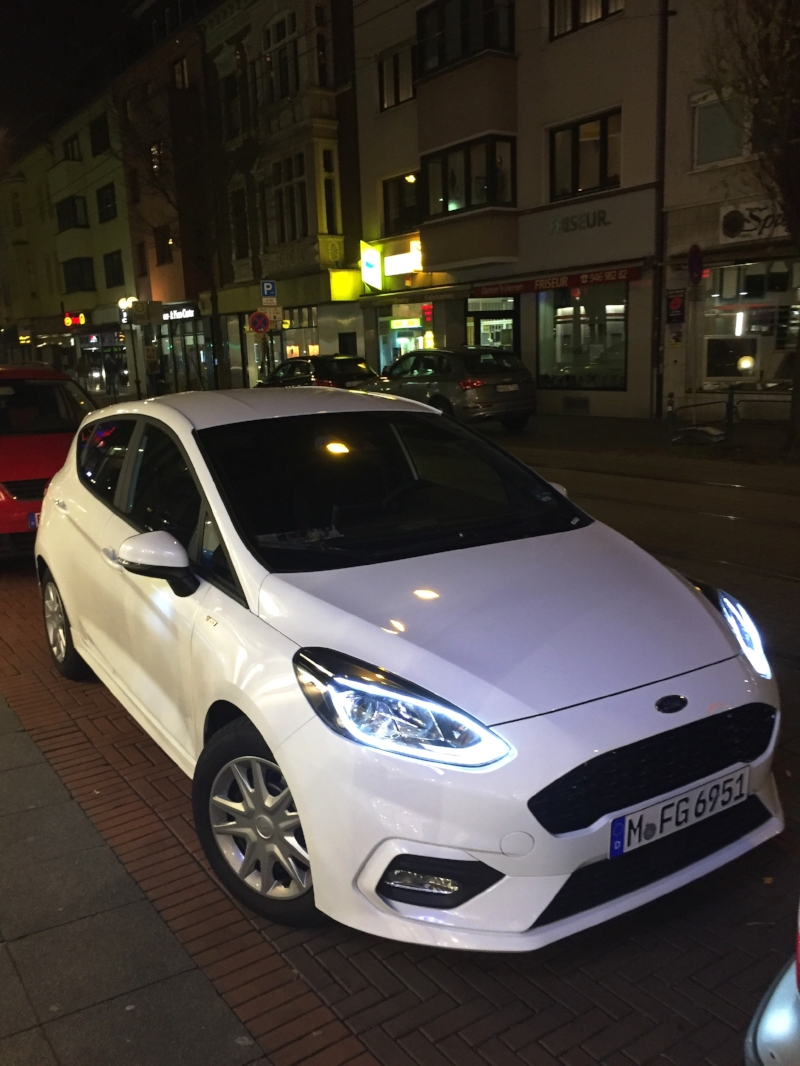 the rental for ten days -2018 ford fiesta 6spd, top-speed 221km (tested w/draft)