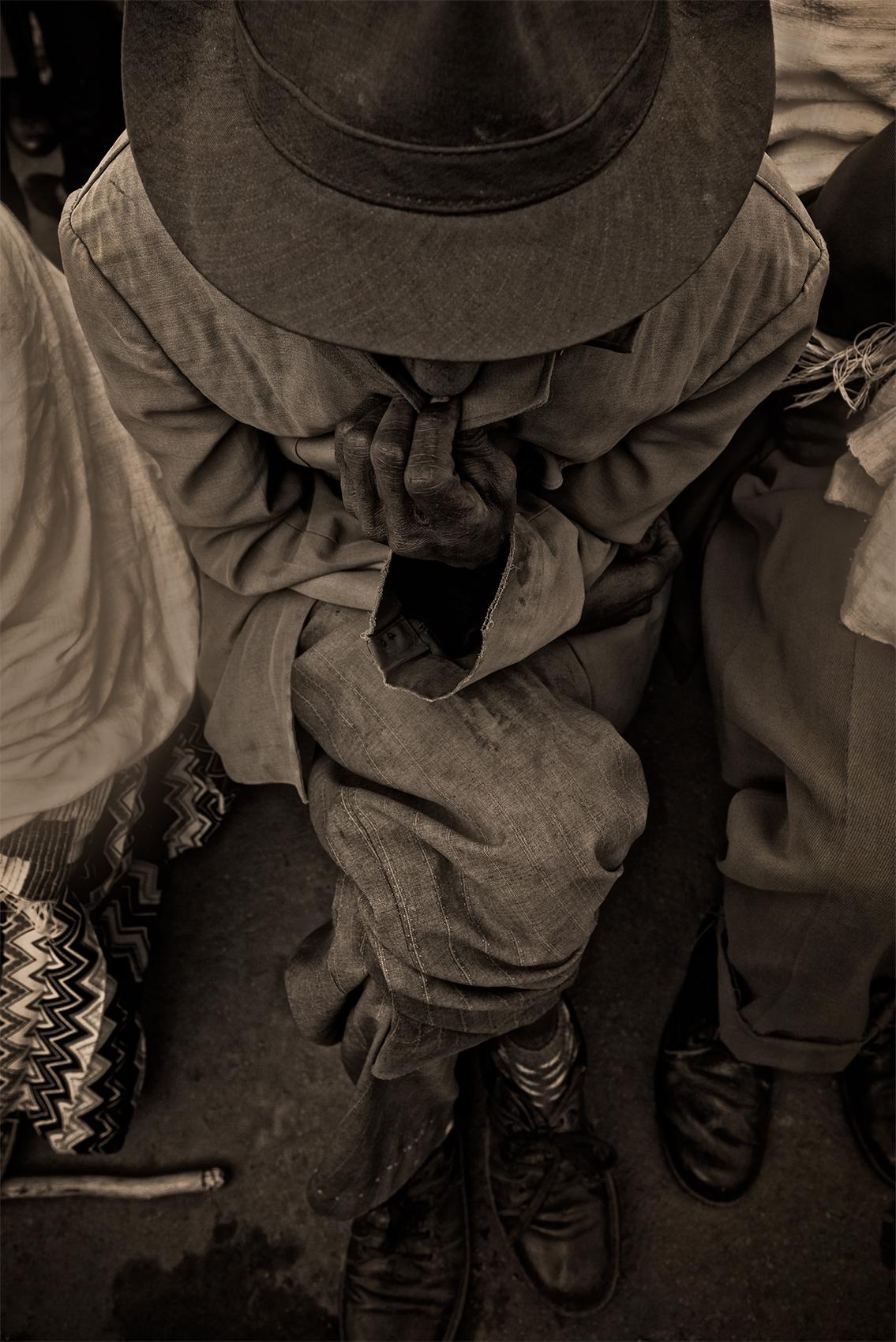 Blind man waiting, Masala, Ethiopia