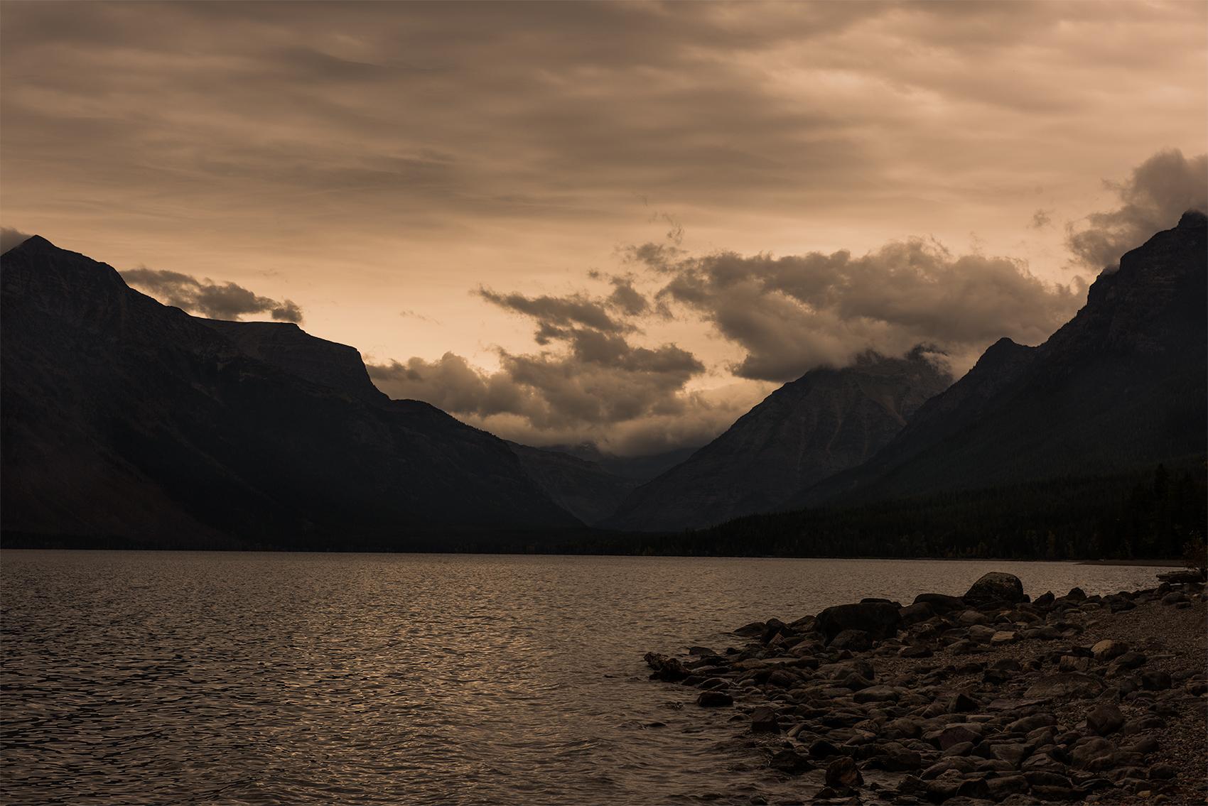 rocks and water, Glacier National Park, Montana