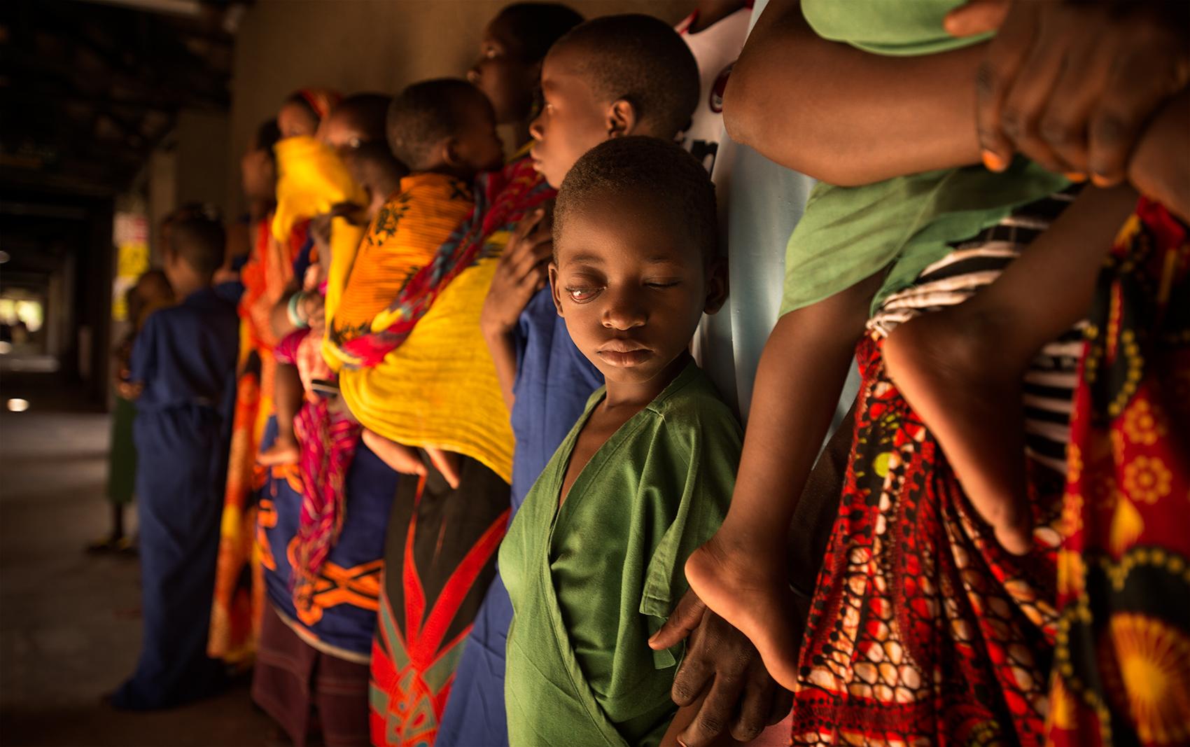Blind children waiting for surgery, Dar Es Salaam, Tanzania