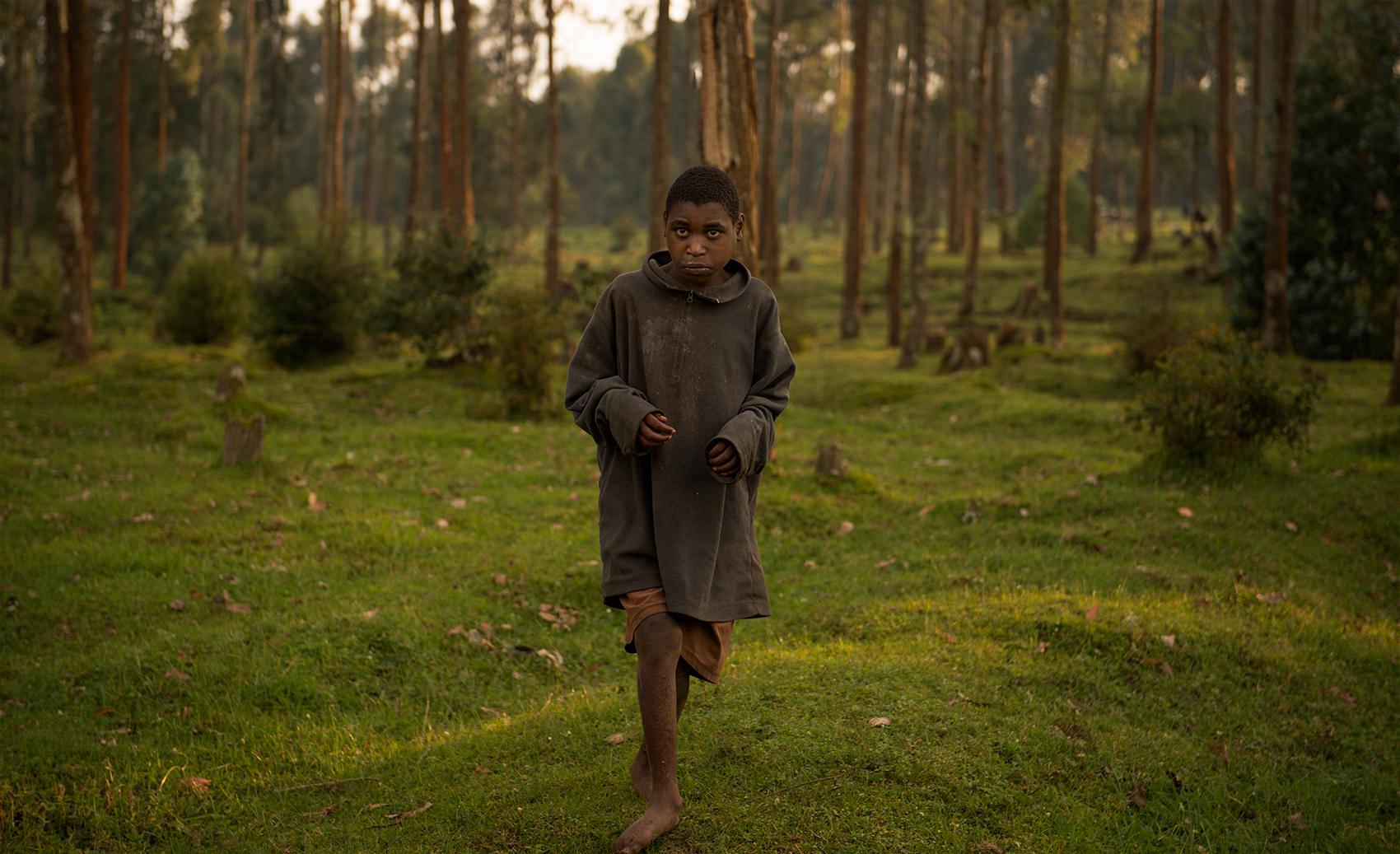 Boy at the edge of the woods, Rwanda
