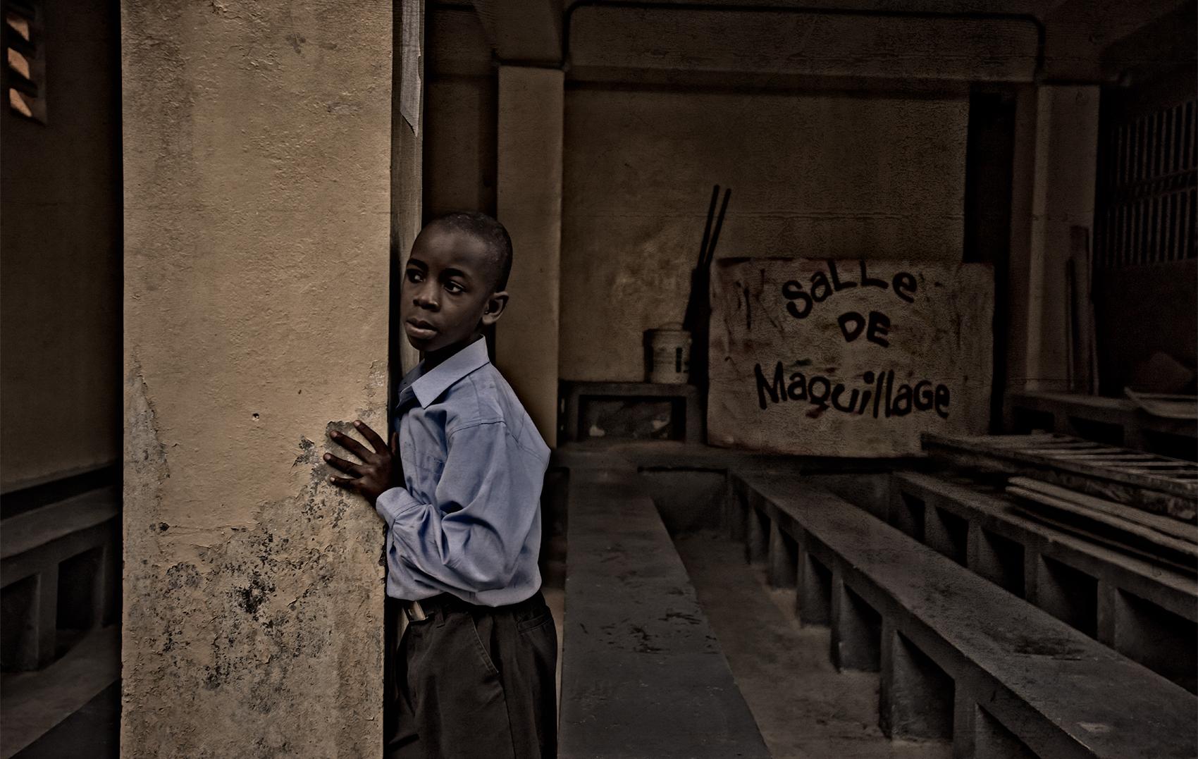 Orphan school boy, Haiti