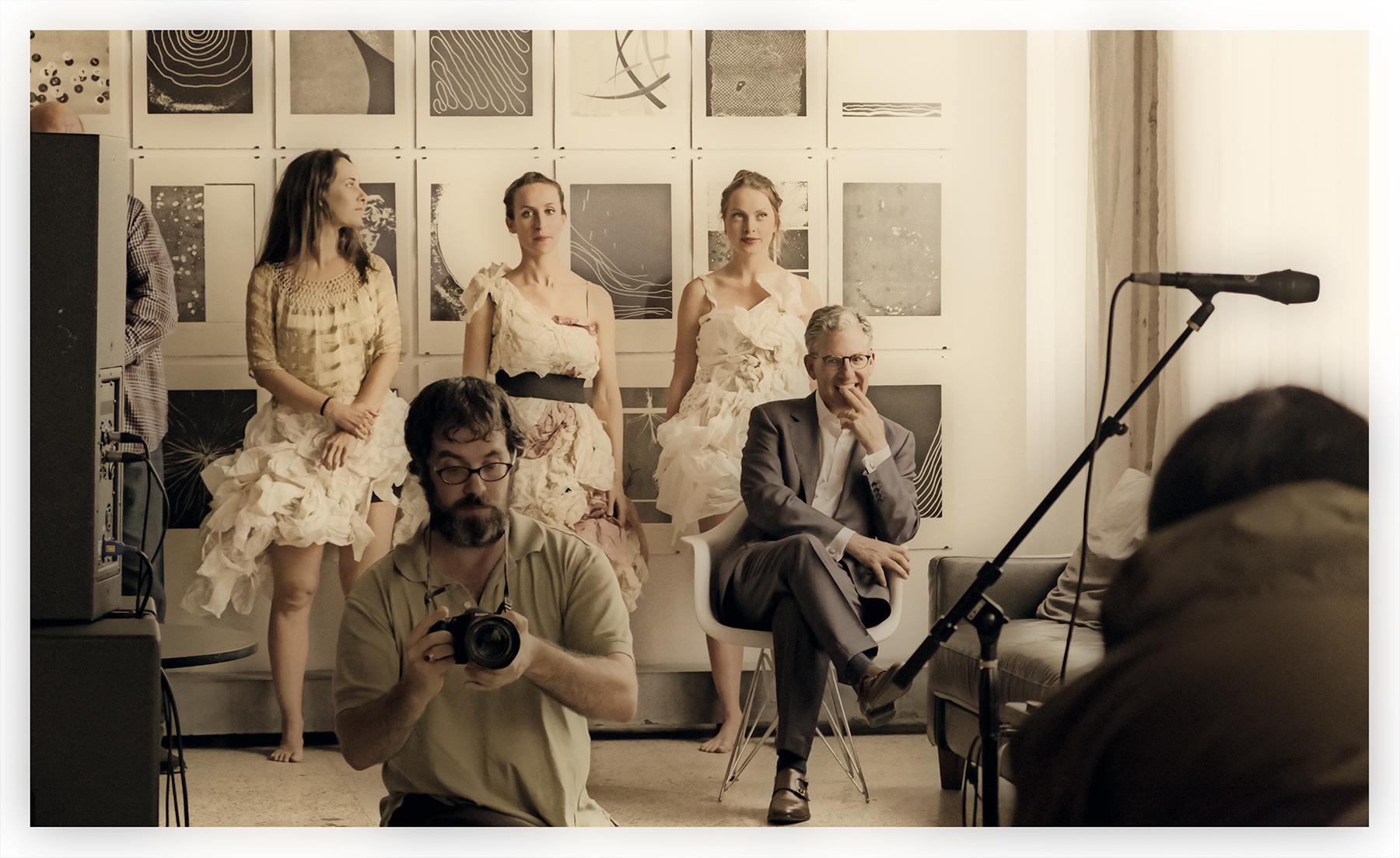Brother Rutter on dancer/art background, Work Release, Norfolk