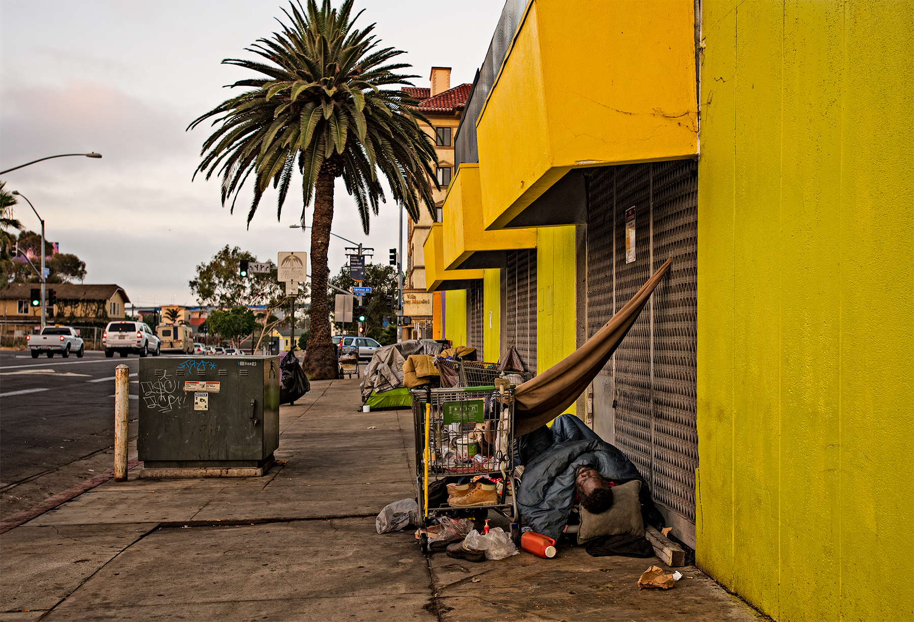 Homeless camping in San Diego