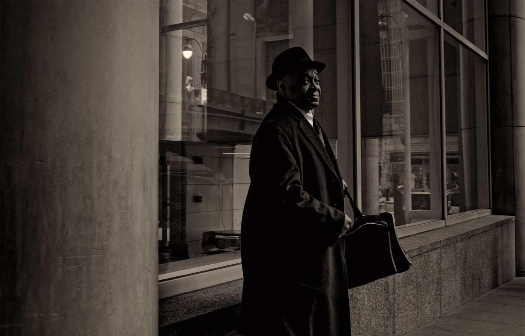 To work, near Grand Central Station, New York City