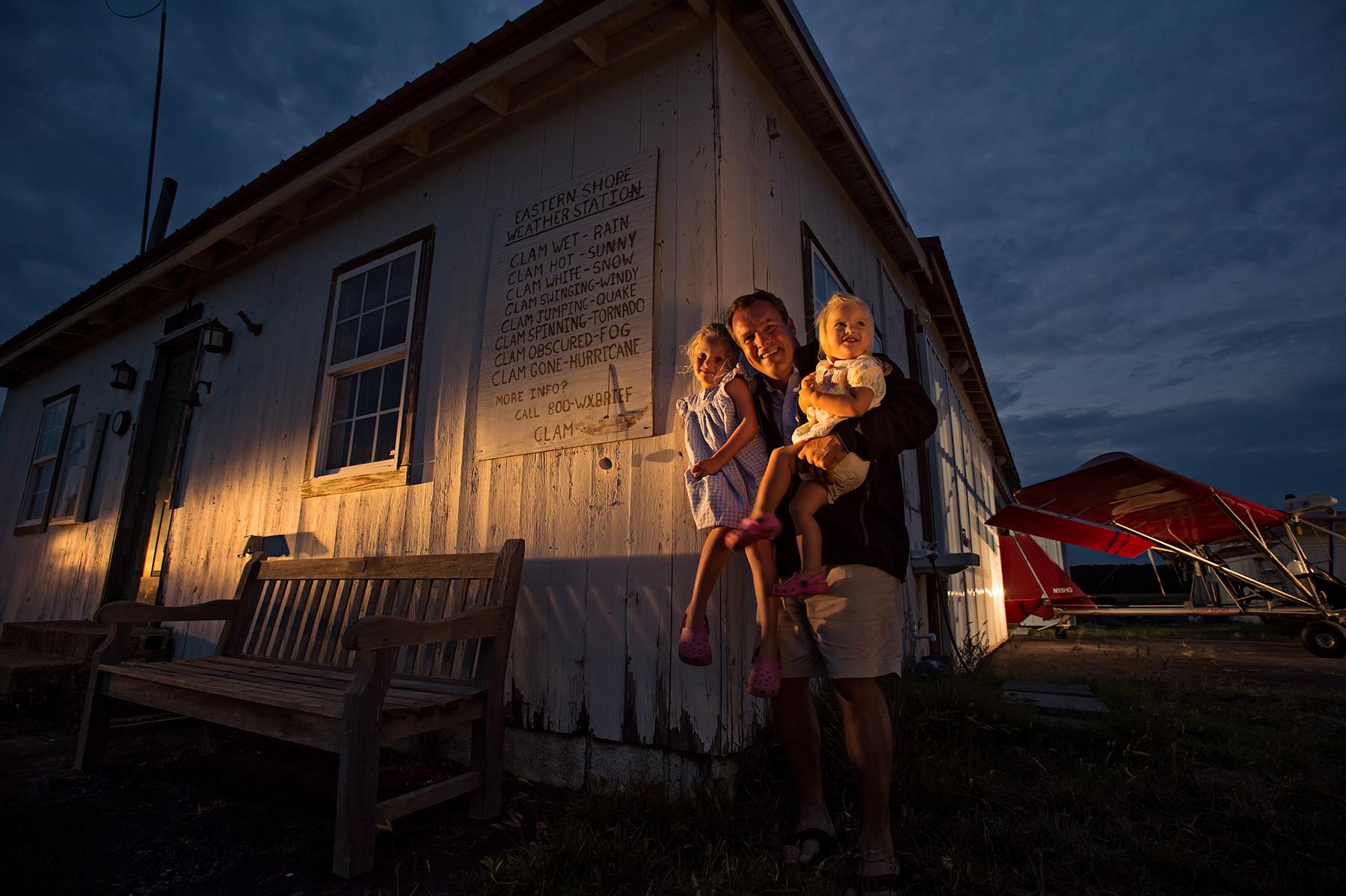 Gordon Campbell and girls, the Eastern Shore, Va
