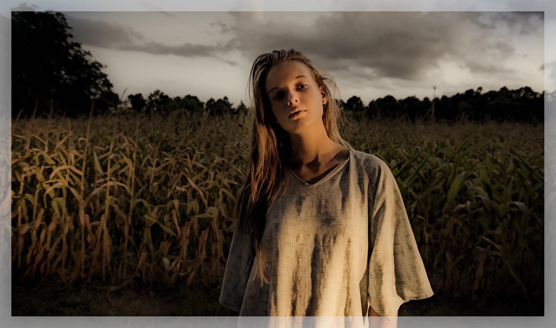 Girl in a field, Suffolk, Va