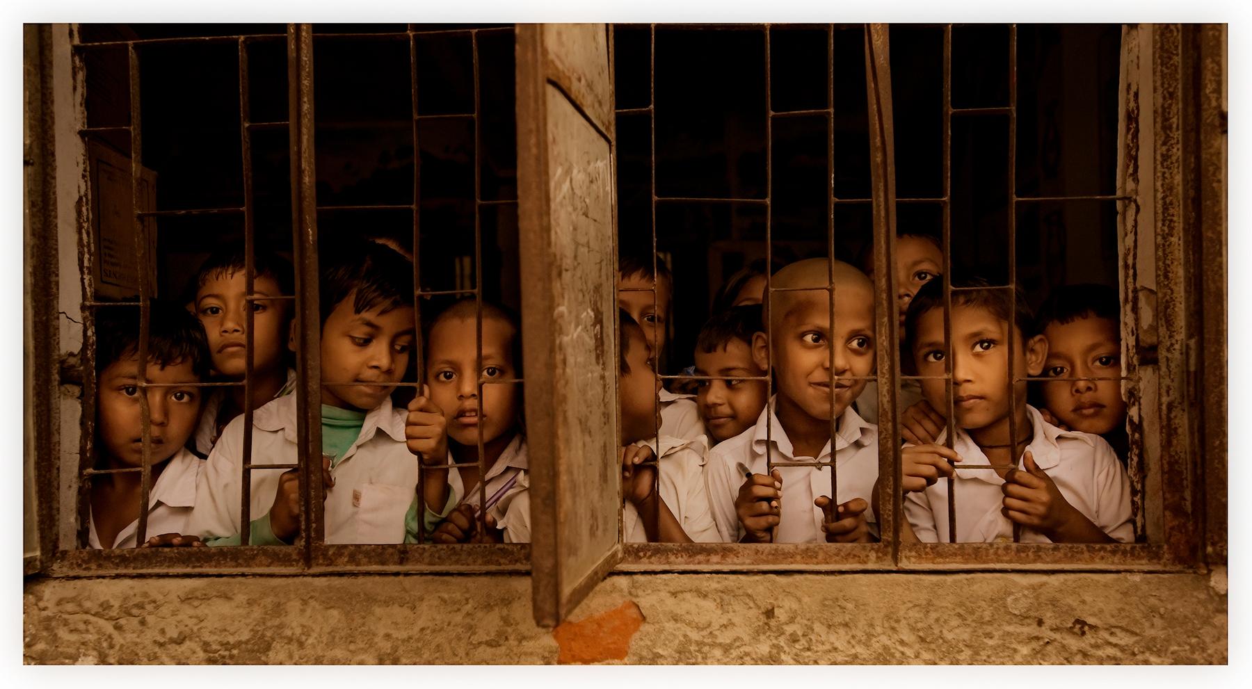School boys, island school, Bangladesh