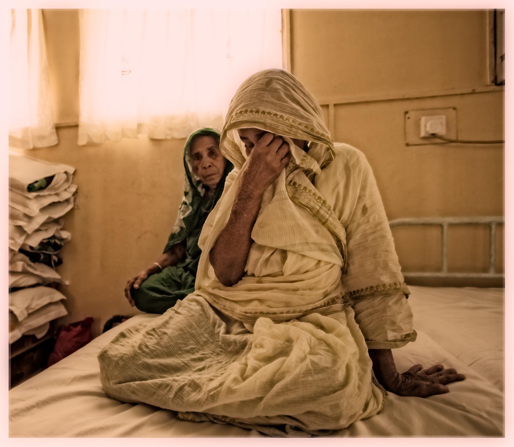 Blind woman, near Barisal, Bangladesh