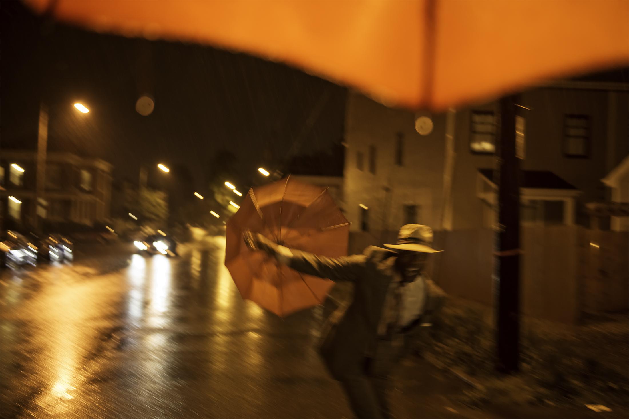 Stephen, rain in Richmond near Dutch & Company