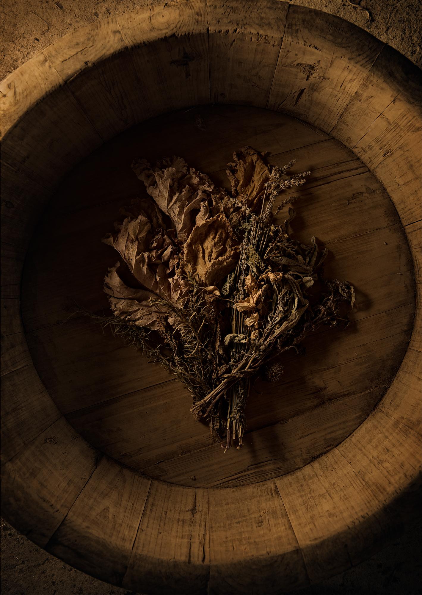 Dried herbs and bowl, Onancock
