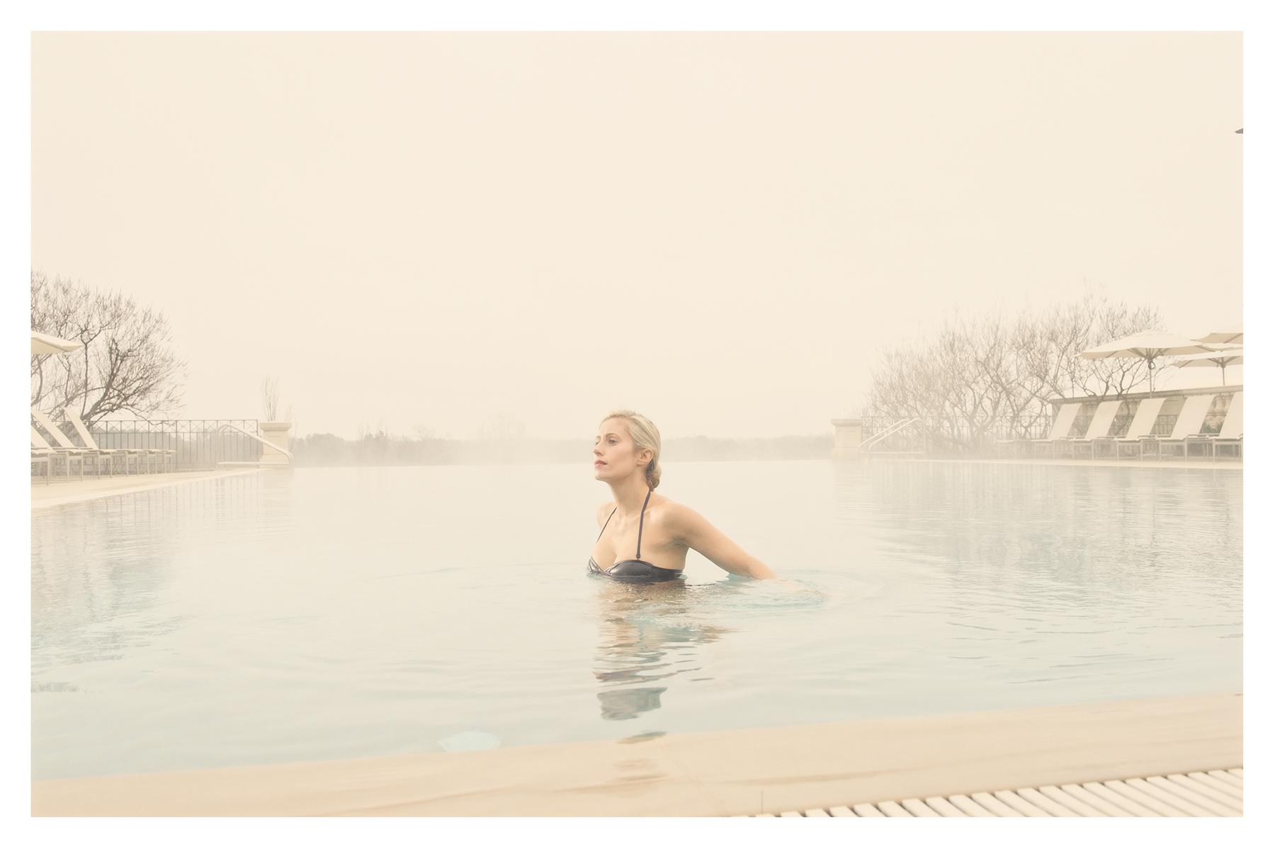 Lauren and the pool at Keswick