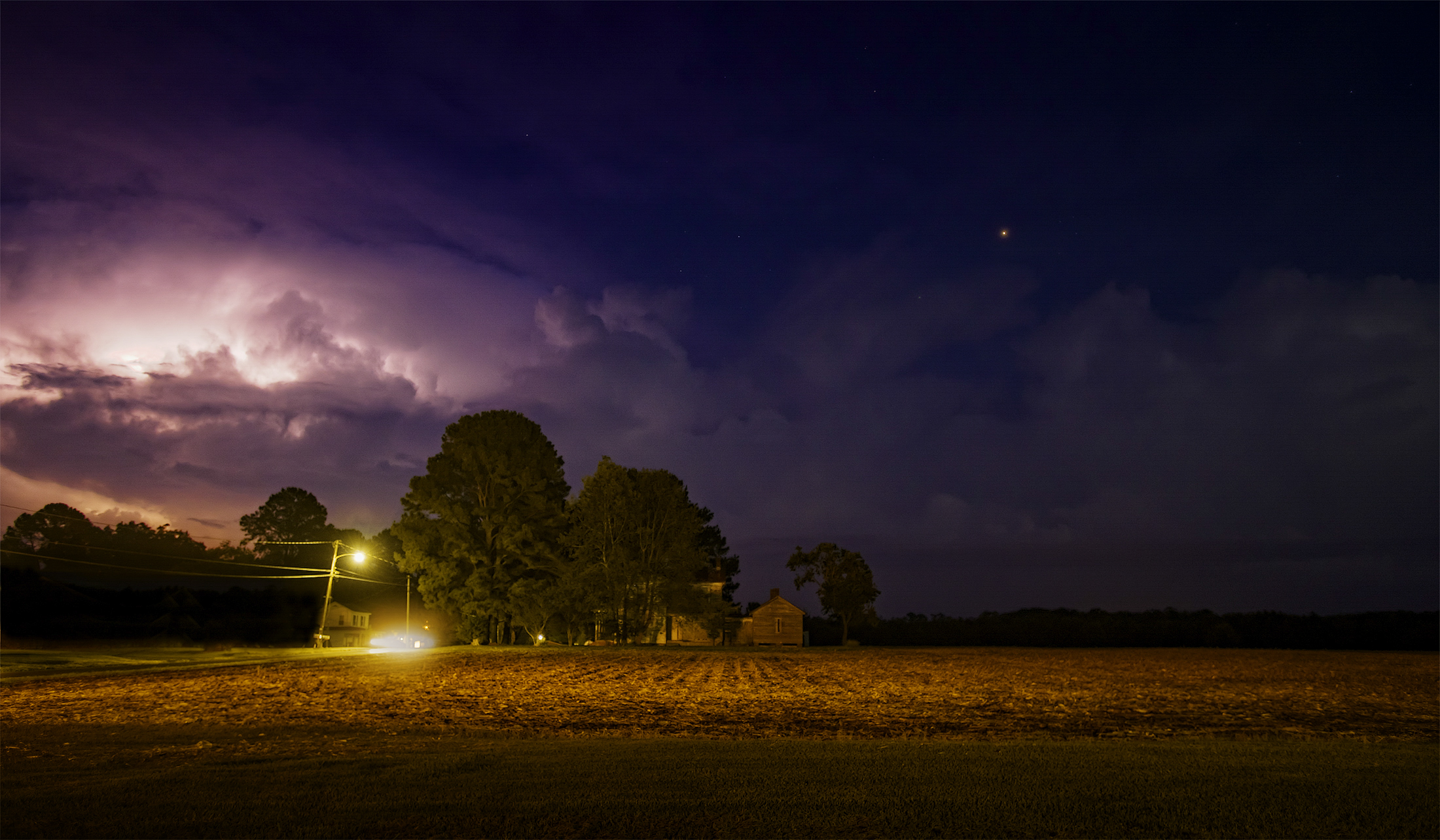 Summer storm on Route 13, North Carolina on September 9th.