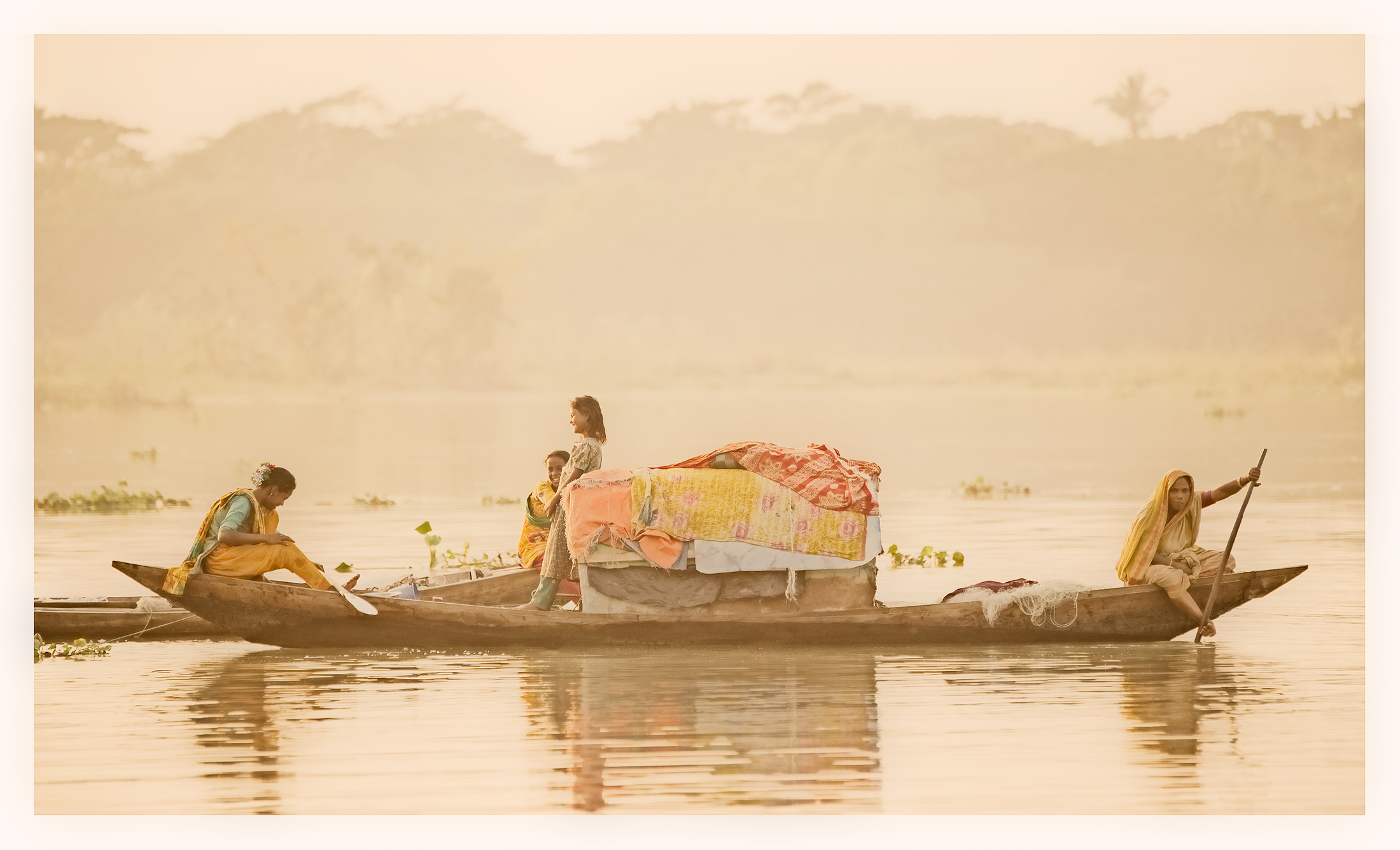 This always feels like summer…end of the day, women and boats, Bangladesh.