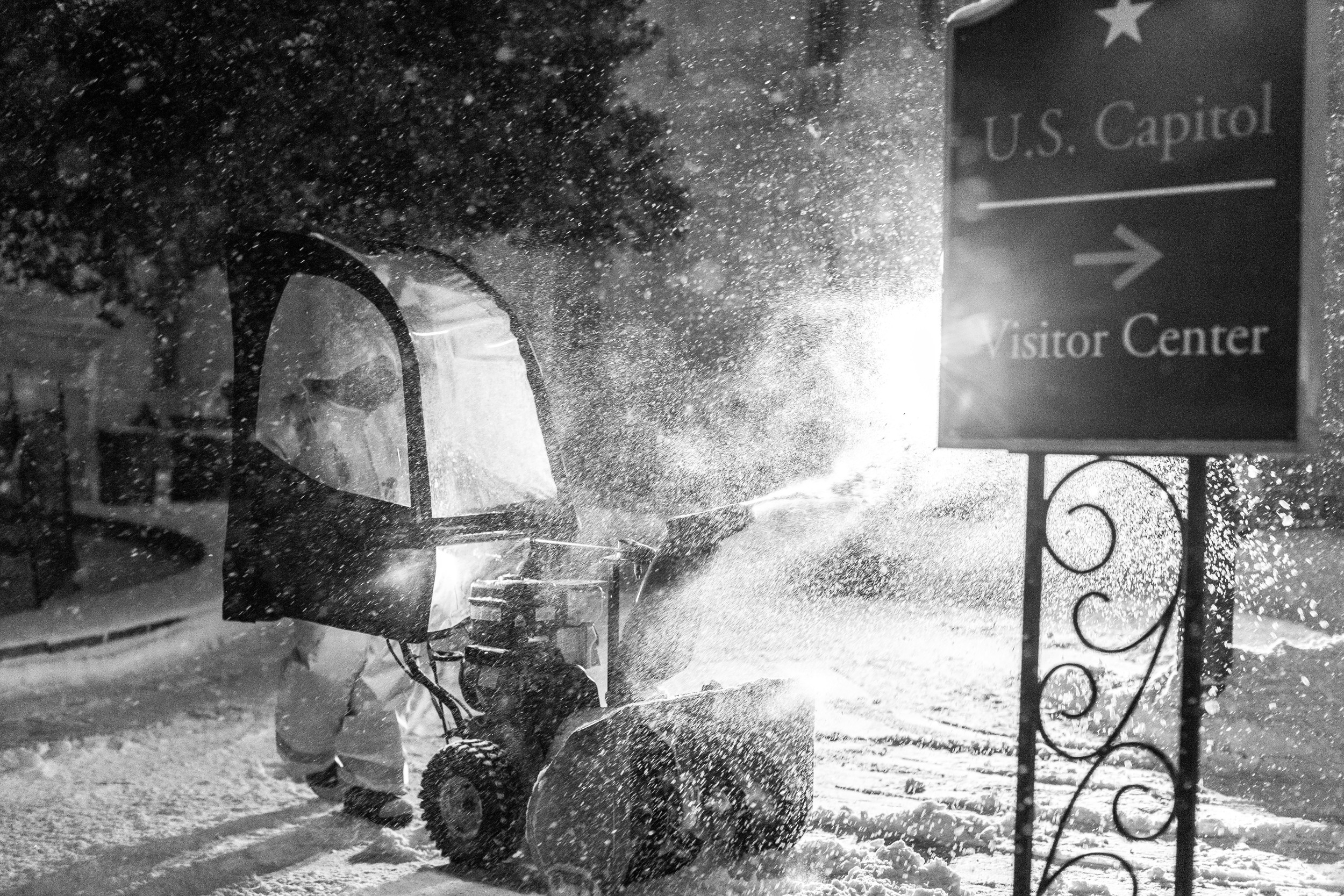 Snow clearing near the Capitol.