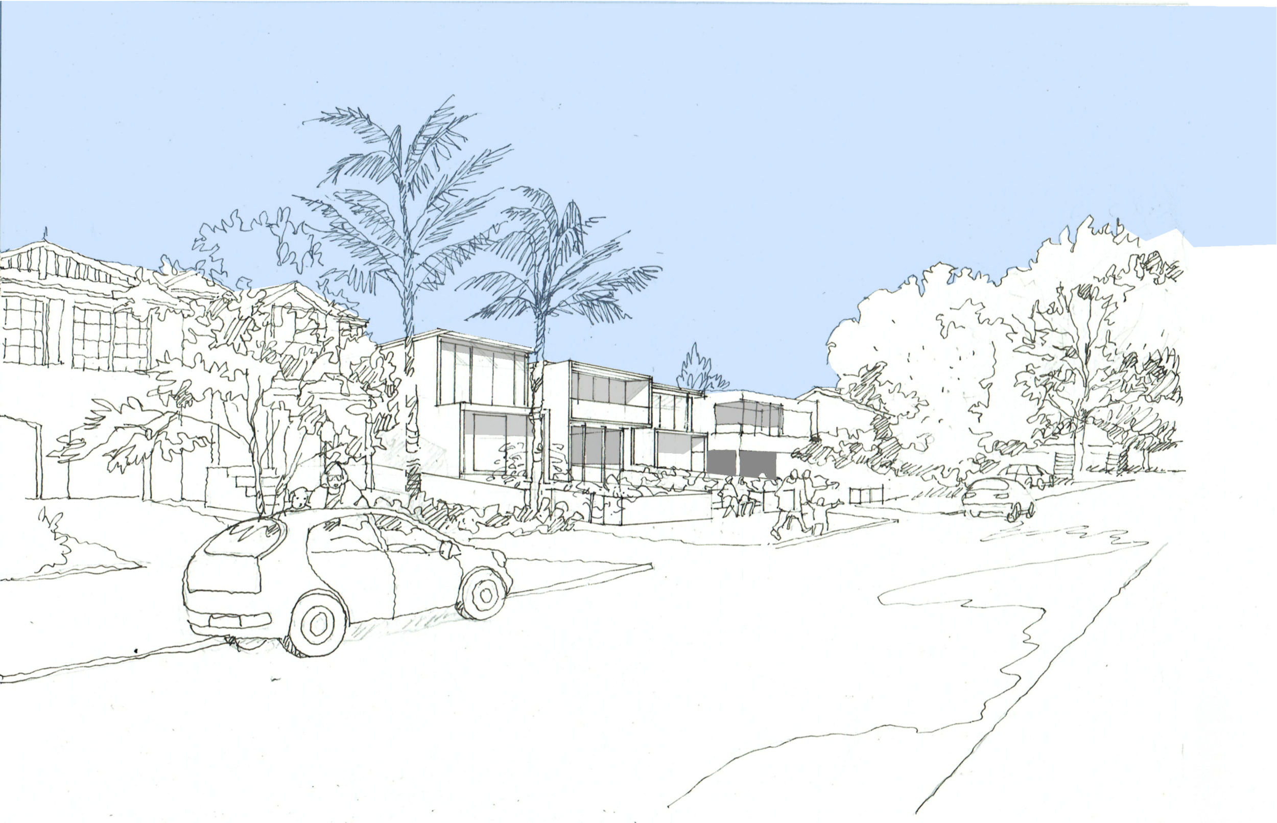 Context Street View of 4 dwelling courtyard development in Marsfield
