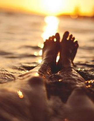 I am grateful for my feet.