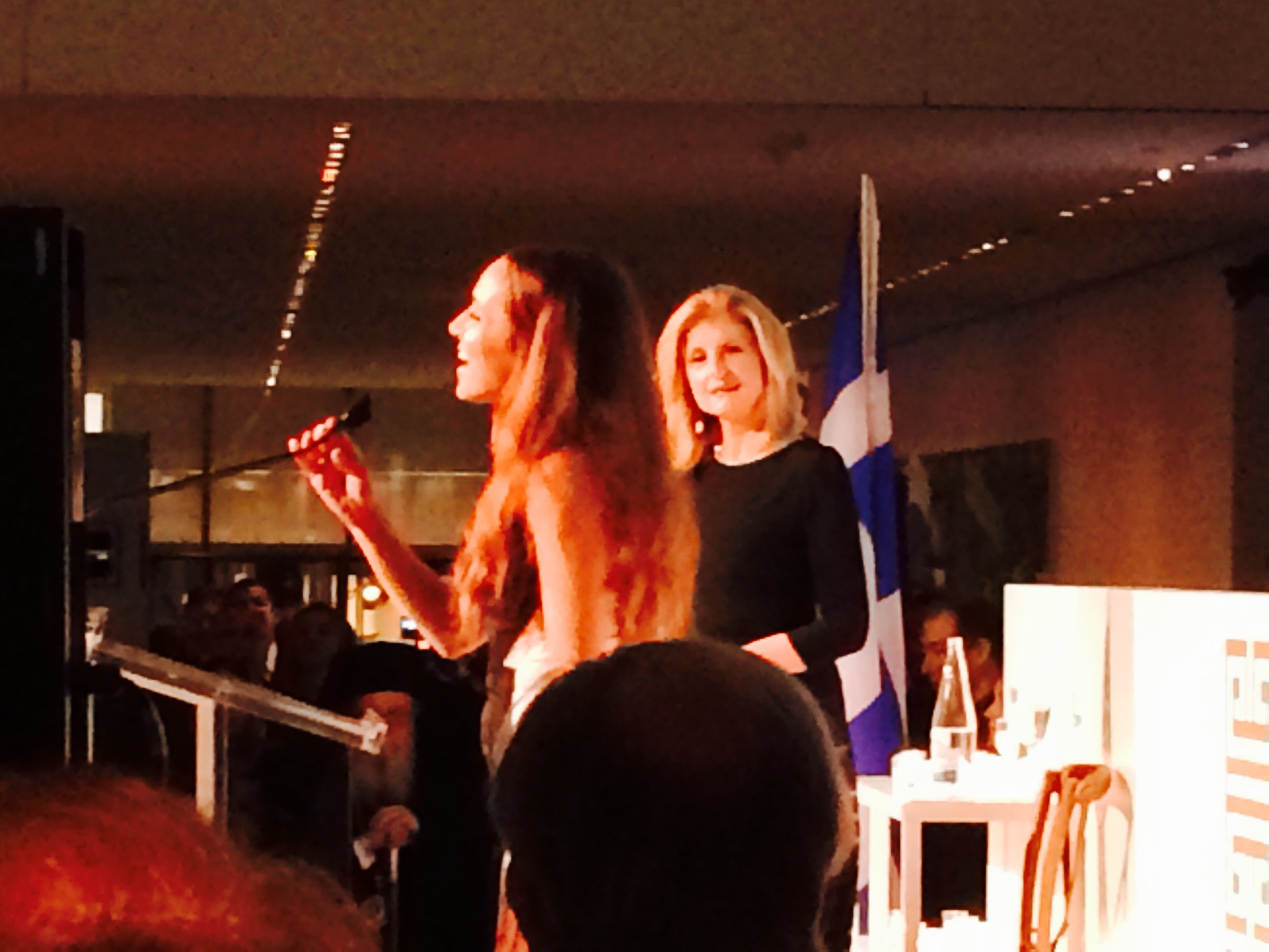 Kalomira at The Hellenic Initiative in NYC.