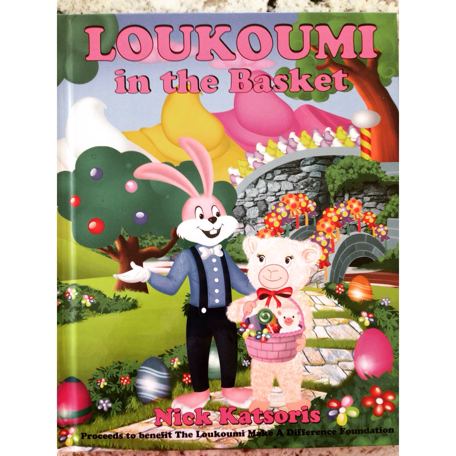 Our bed time book for Easter! We LOVE the LOUKOUMI series books!