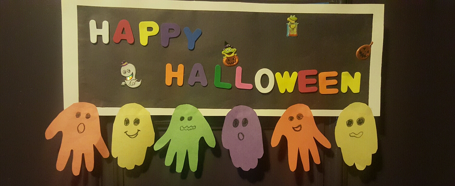 Our Halloween sign that the boys made!