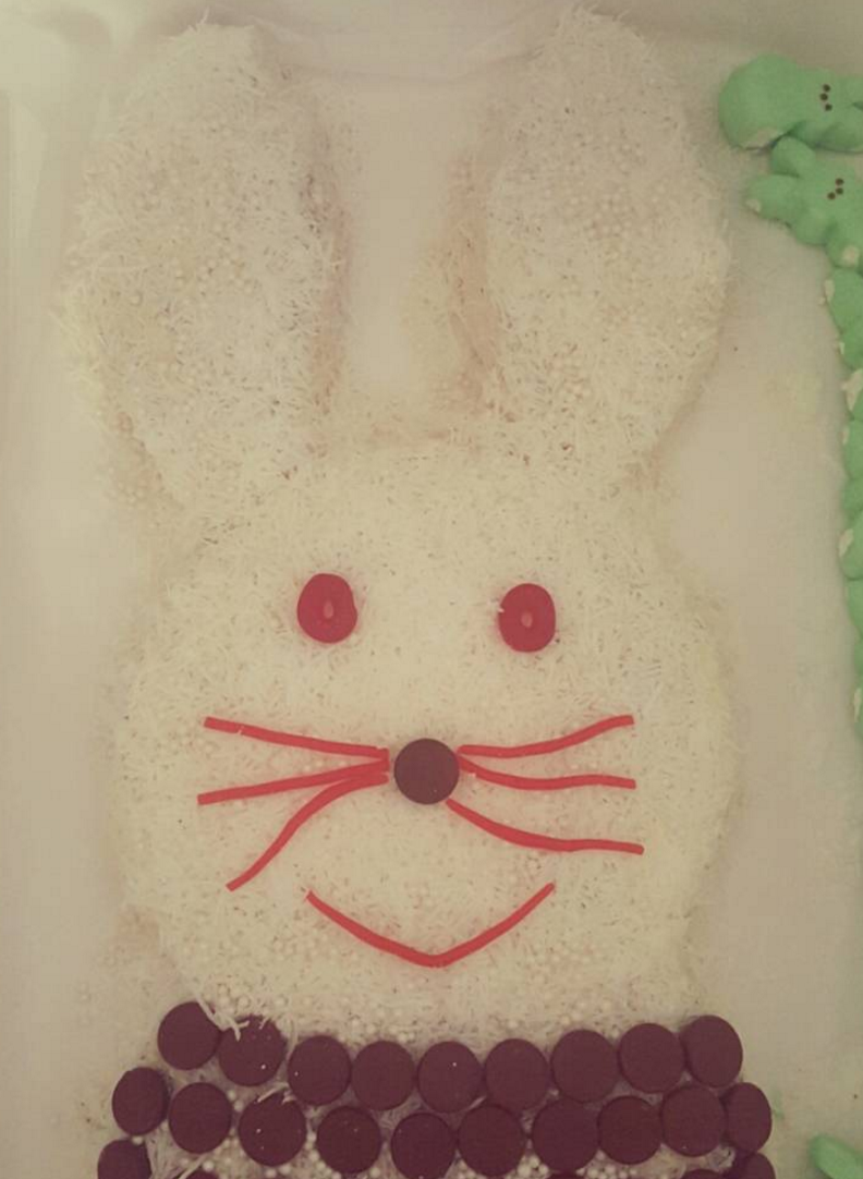 My first Easter Bunny Cake!