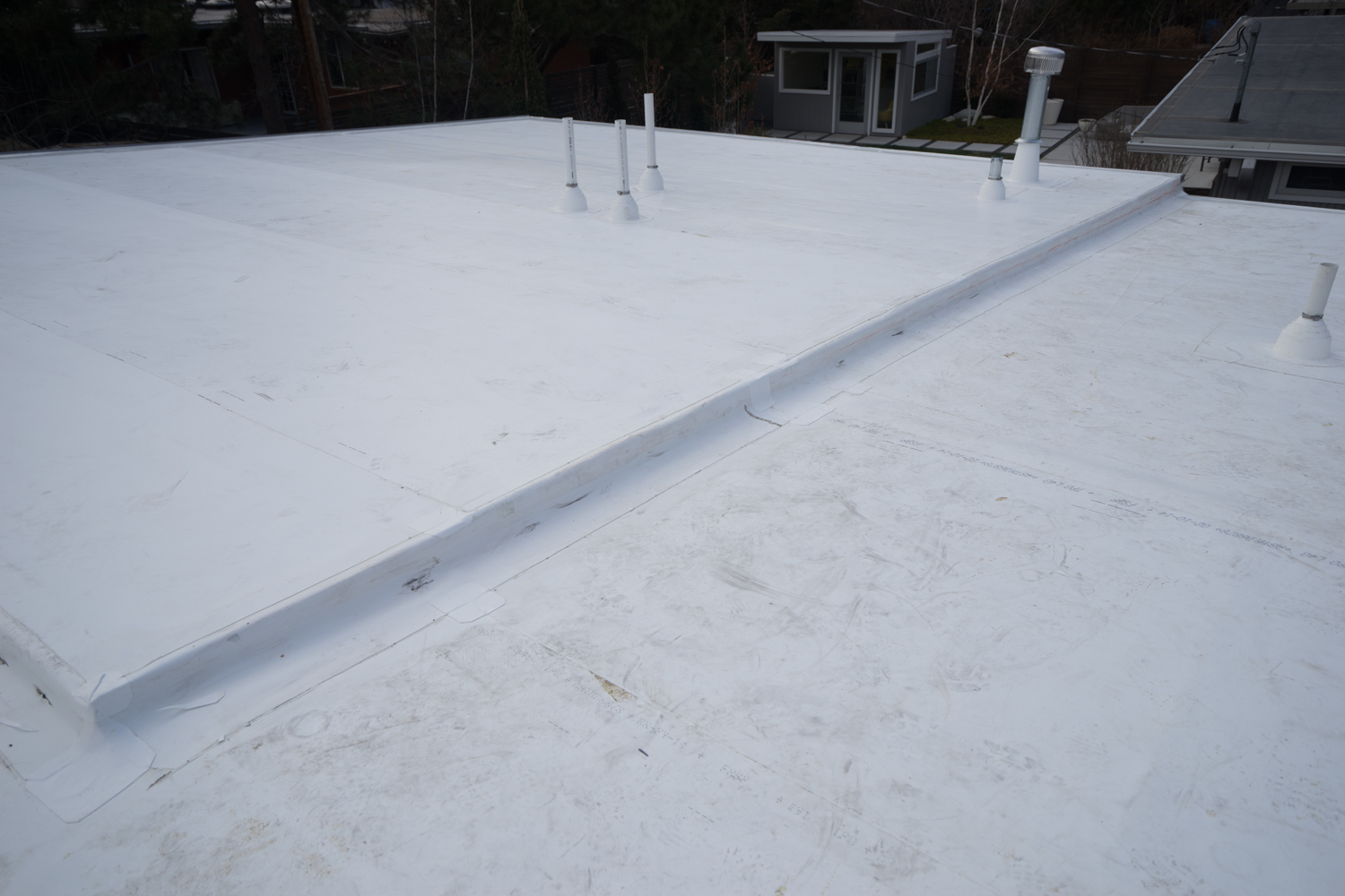 Example of a TPO Roof installed over a new addition