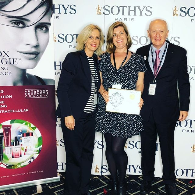 Today Facial Impressions received a longevity award at the Sothys Symposium it has been an incredible 17 years, so proud to be partnered with such an incredible company and product 🥂 #sothysaustralia #ilovesothysparis #fibeauty_avalon #sothysskincare #inbeautygroup #