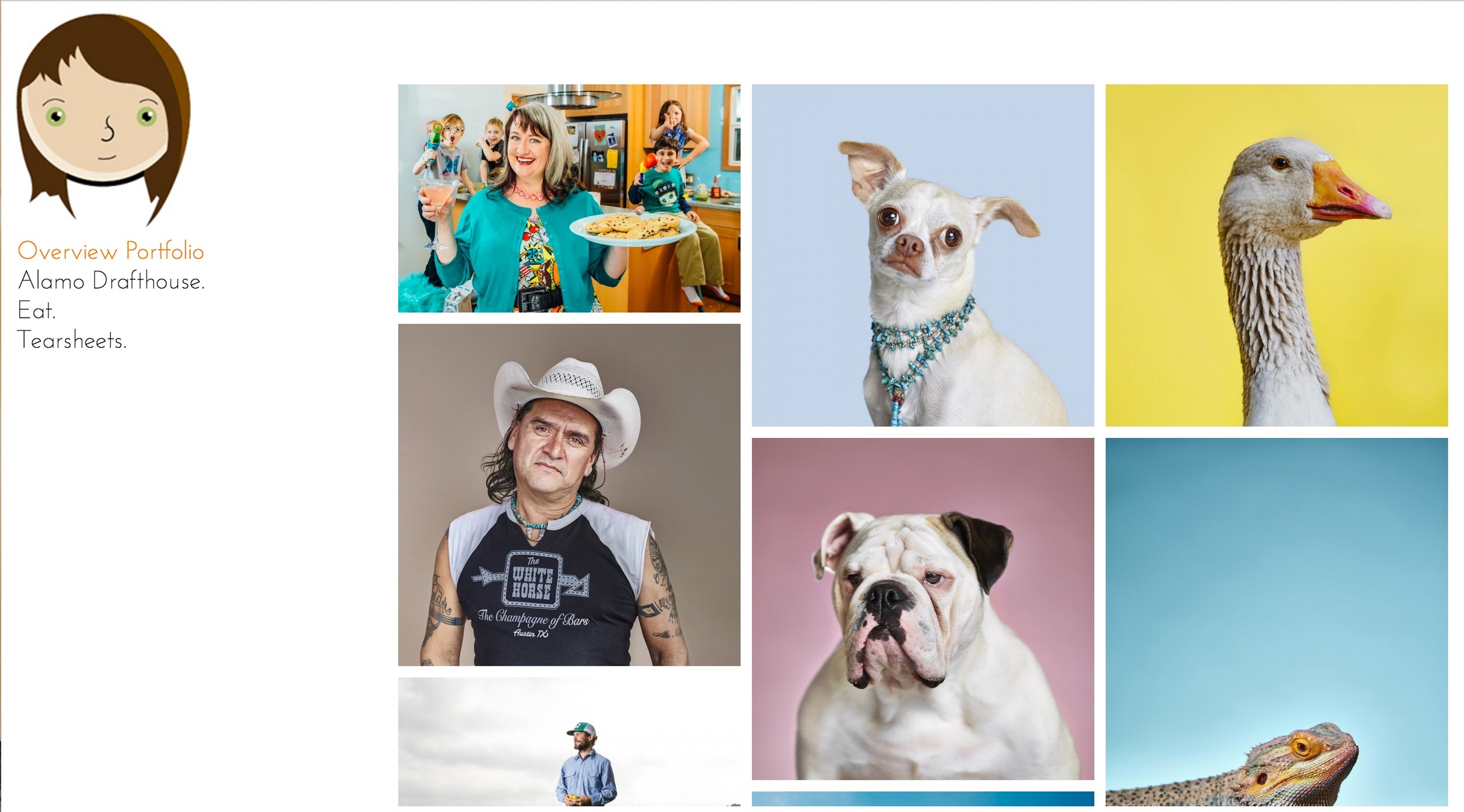 Some of the many portrait's on  Annie's website .