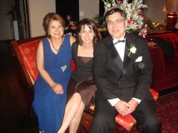 My folk and I, all dolled up for my sister Crystal's wedding in 2008.