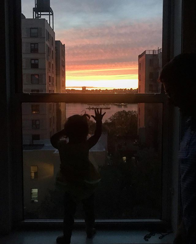 Catching that bedtime sunset!