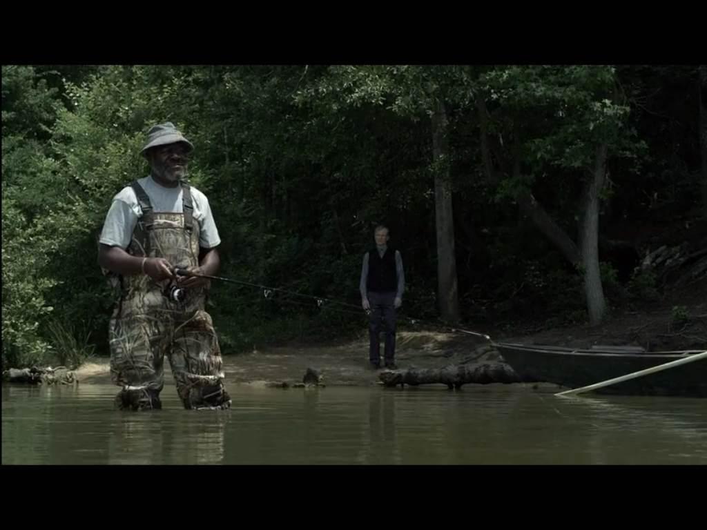 Sugar fishing in camo, Kai looking repentant