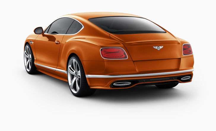 "In Orange Flame with   21"" Sports 5 Spoke Directional - Painted wheels. 633 horsepower.  From $239,400."