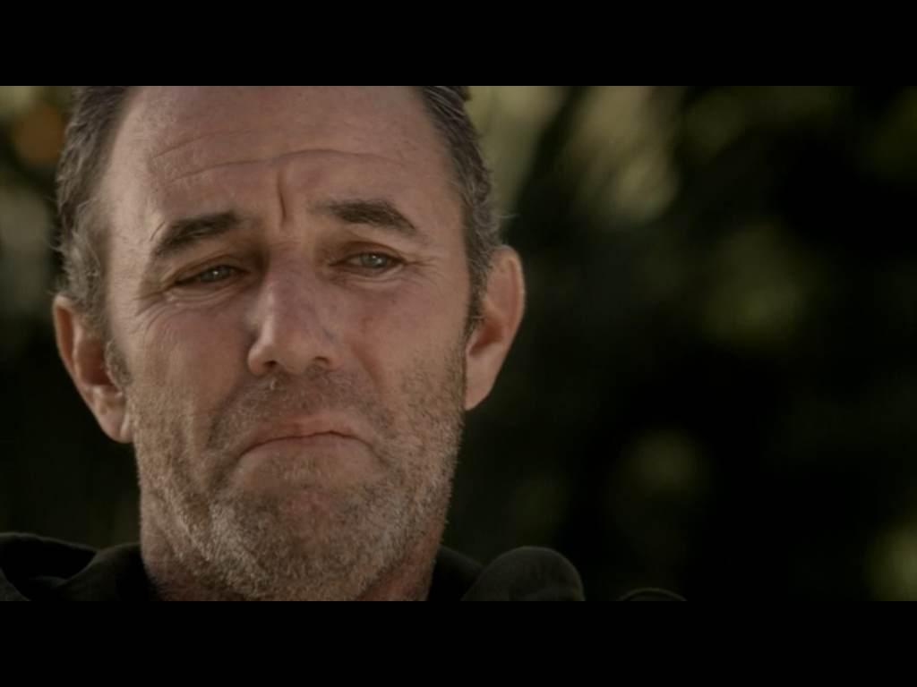 Eric O'Bannon, still unshaven, still playing a sad sack