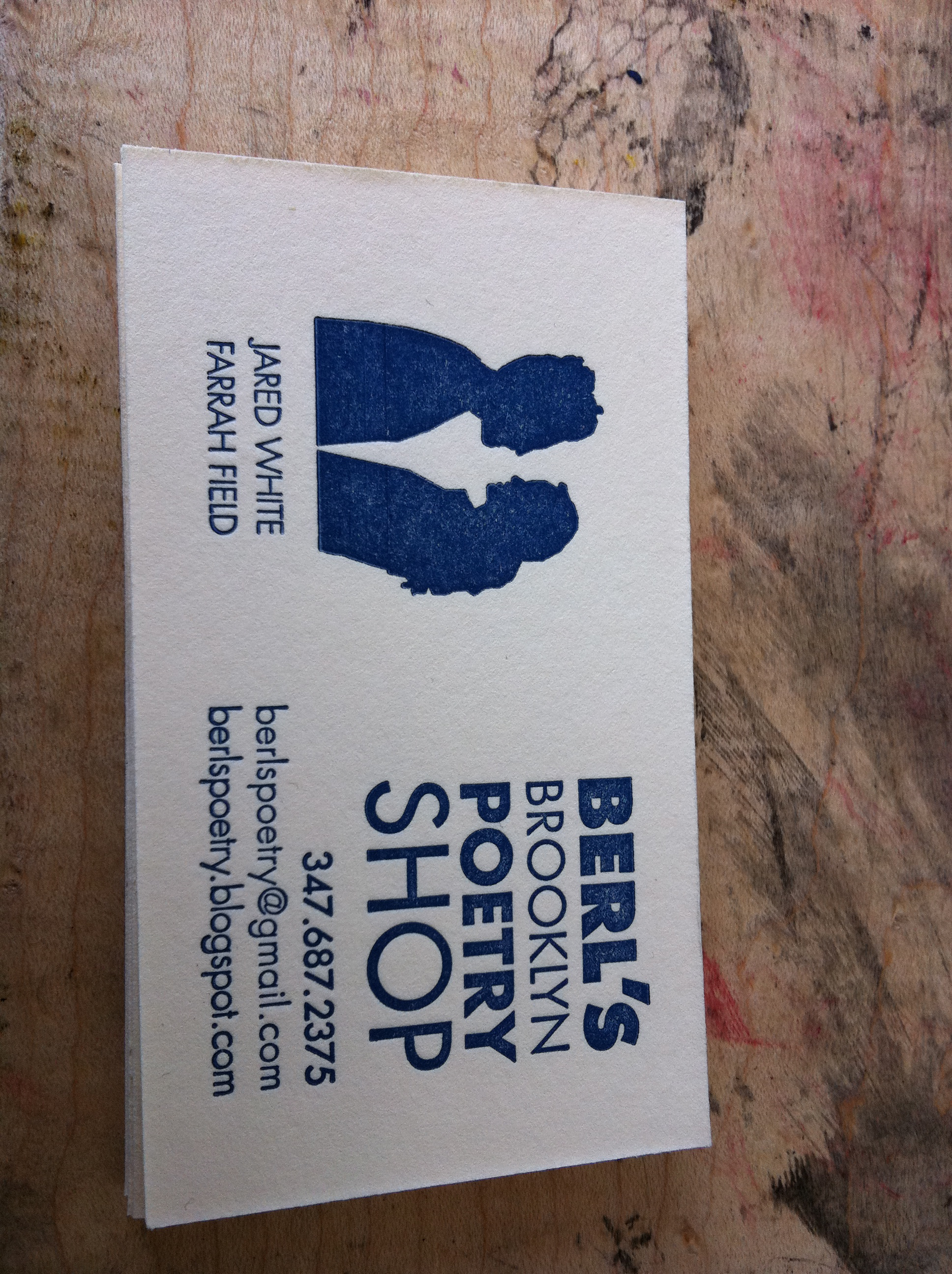 Our original Berl's business card (it also comes in orange!).