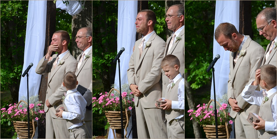 The look on Tim's face was priceless.  Raw emotion captured by my assistant, Lisa Hale.
