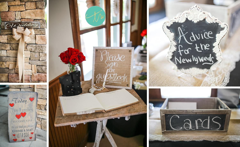 detail shots of black mountain wedding