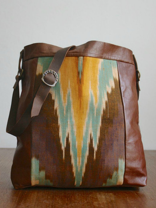 Grace Bags is a Toronto company, hand made leather bags with rare vintage fabric detail.