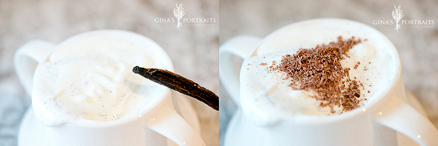 fresh whip cream is the best… then add freshly grated chocolate - THE BEST!!!