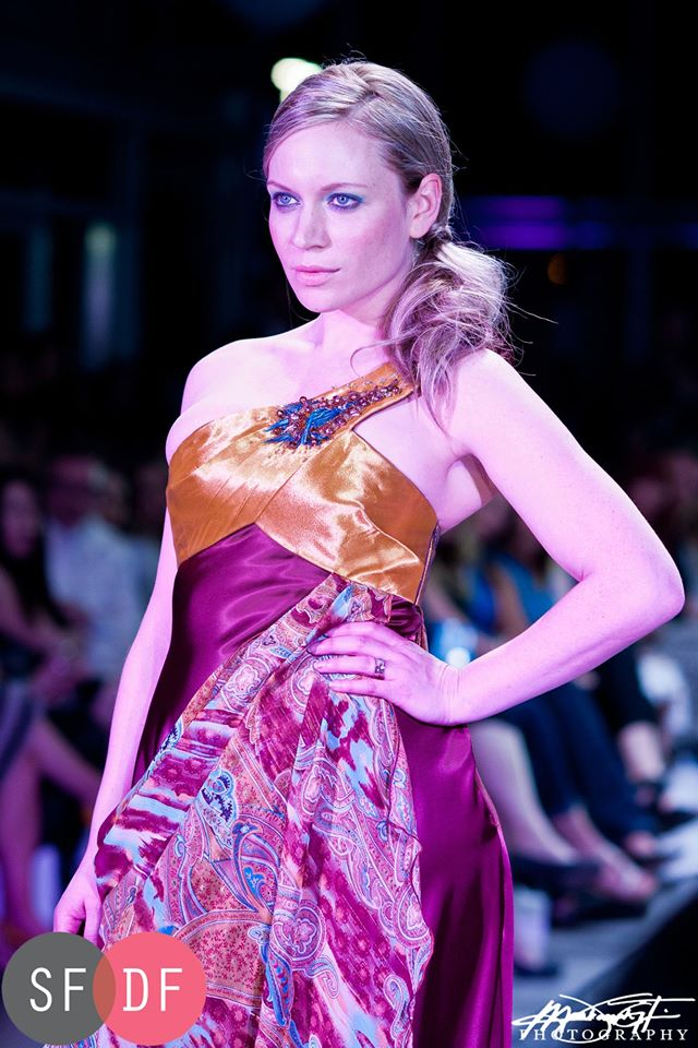 See? We love SFDF! This is Maygen walking for Dean Renwick on the 2013 Runway at Mercedes-Benz.